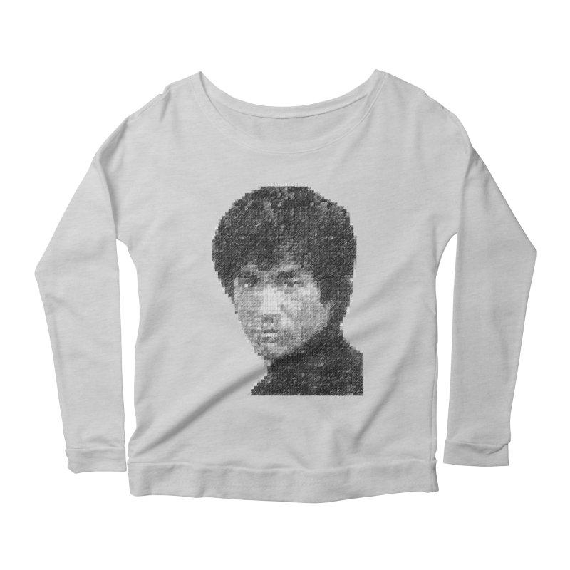 Bruce Lee (Positive Image) Women's Longsleeve Scoopneck  by dgeph's artist shop