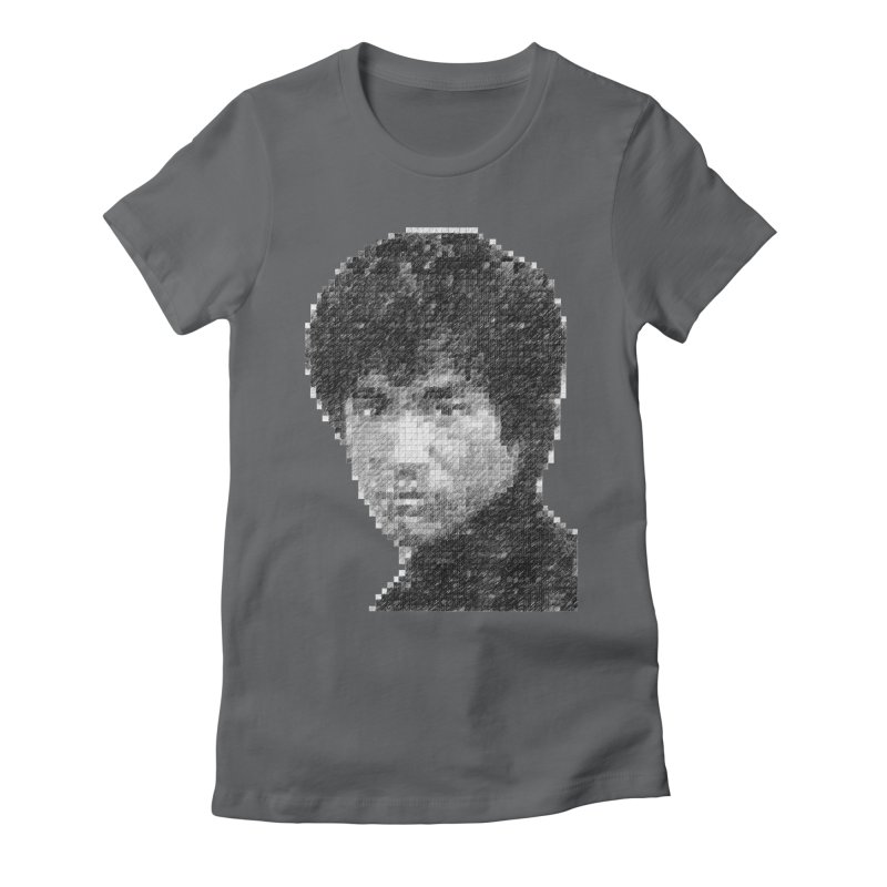 Bruce Lee (Positive Image) Women's Fitted T-Shirt by dgeph's artist shop