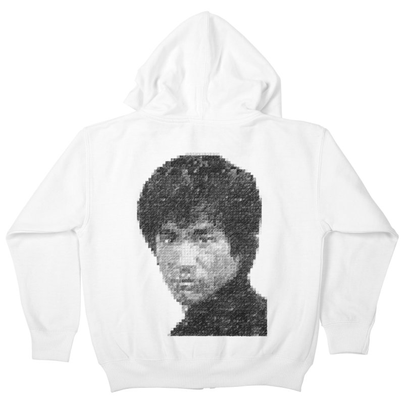 Bruce Lee (Positive Image) Kids Zip-Up Hoody by dgeph's artist shop