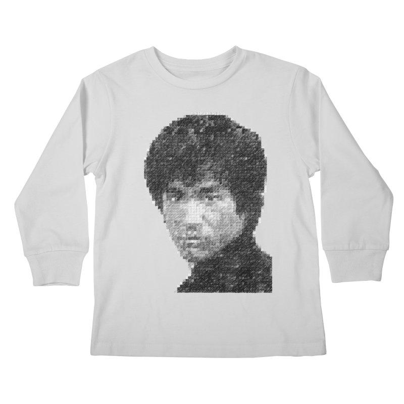 Bruce Lee (Positive Image) Kids Longsleeve T-Shirt by dgeph's artist shop