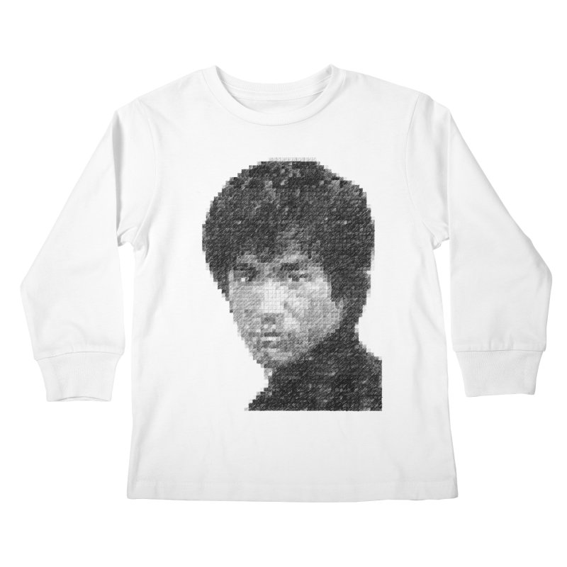 Bruce Lee (Positive Image) Kids Longsleeve T-Shirt by dgeph's artist shop