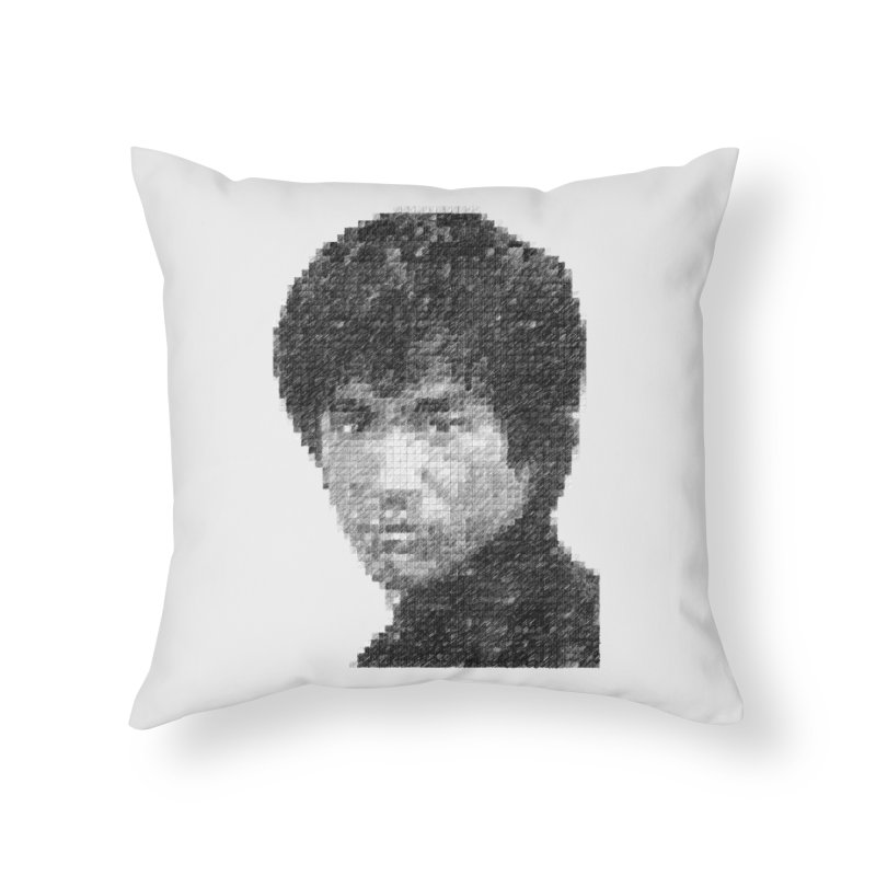 Bruce Lee (Positive Image) Home Throw Pillow by dgeph's artist shop