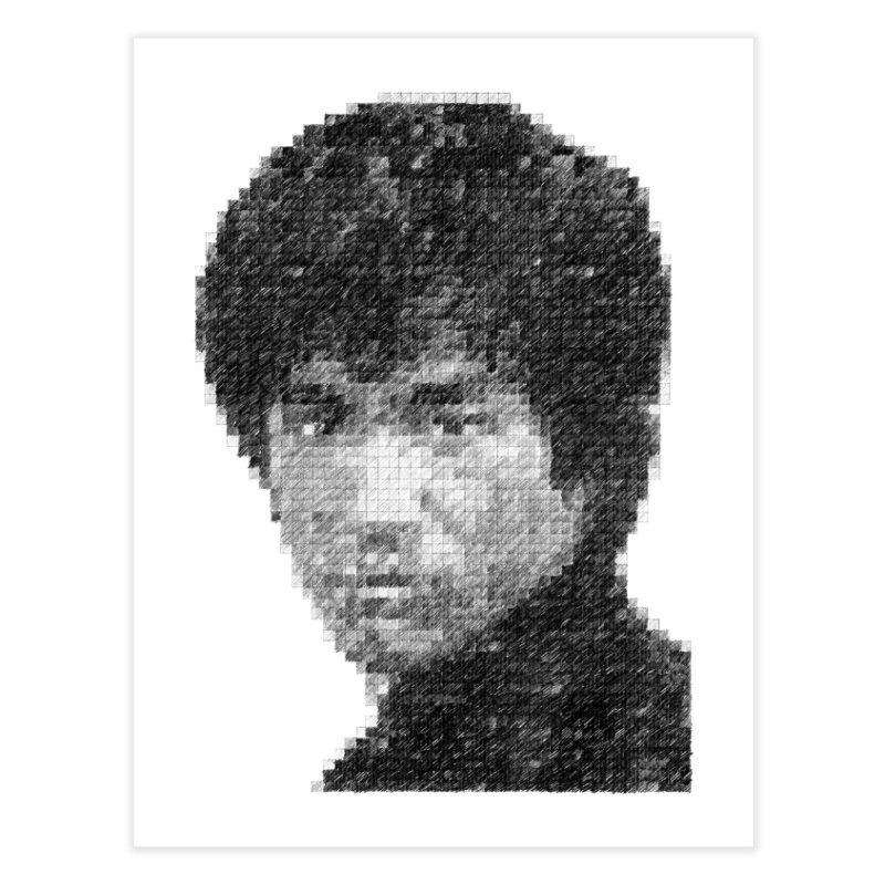 Bruce Lee (Positive Image) Home Fine Art Print by dgeph's artist shop