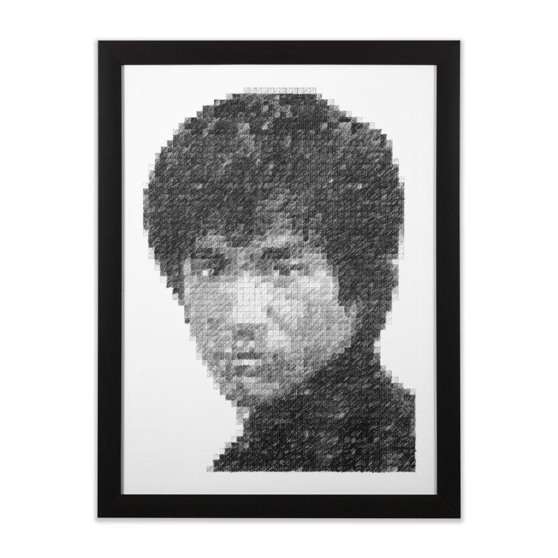 Bruce Lee (Positive Image) Home Framed Fine Art Print by dgeph's artist shop