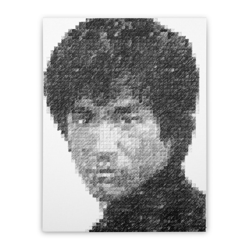 Bruce Lee (Positive Image) Home Stretched Canvas by dgeph's artist shop