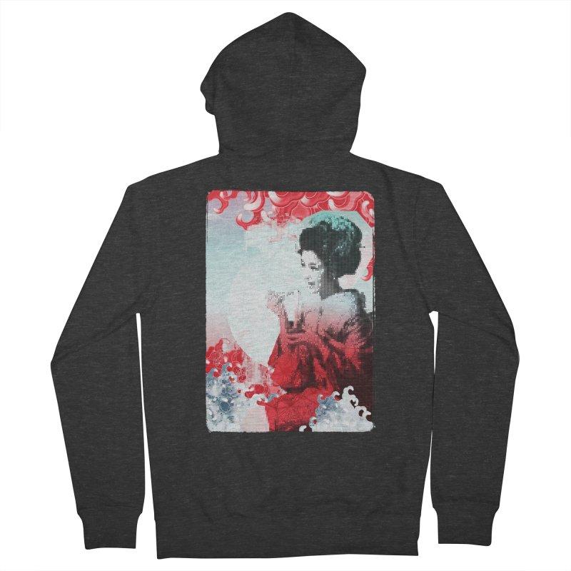 Geisha 1 Women's Zip-Up Hoody by dgeph's artist shop