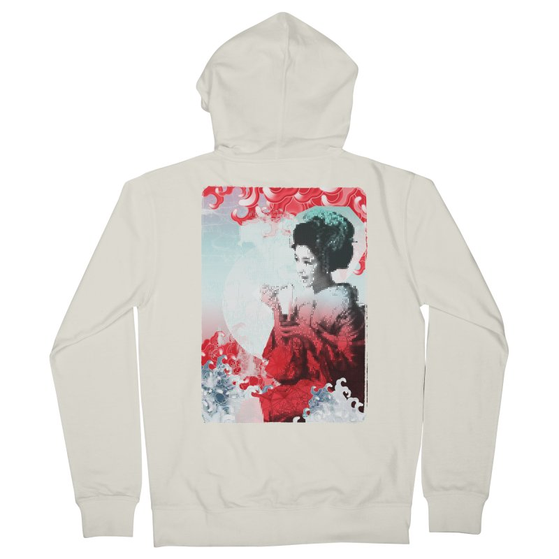 Geisha 1 Men's Zip-Up Hoody by dgeph's artist shop