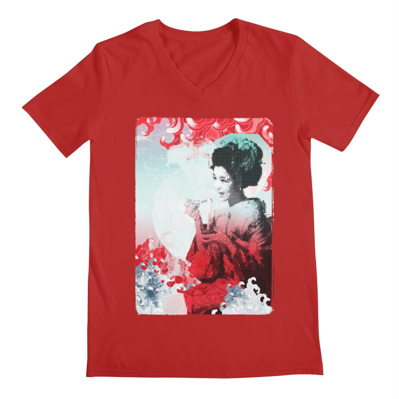 Geisha 1 Men's V-Neck by dgeph's artist shop