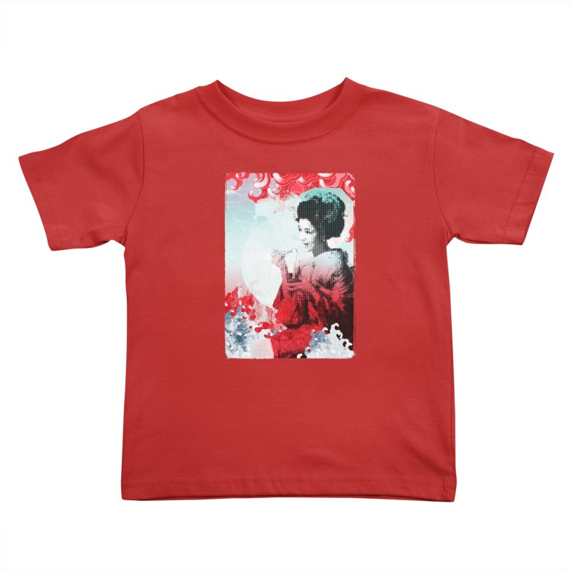 Geisha 1 Kids Toddler T-Shirt by dgeph's artist shop