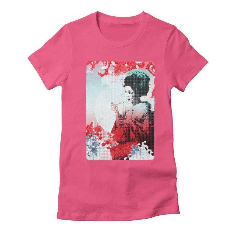 Geisha 1 Women's Fitted T-Shirt by dgeph's artist shop