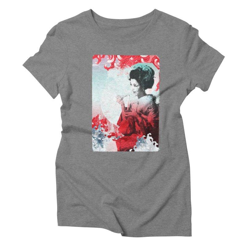 Geisha 1 Women's Triblend T-Shirt by dgeph's artist shop