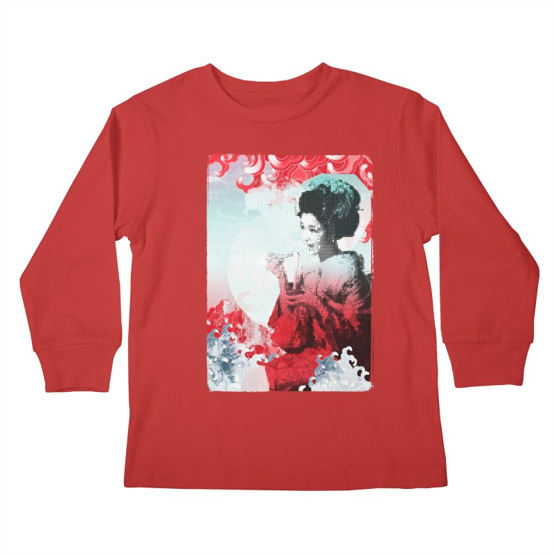 Geisha 1 Kids Longsleeve T-Shirt by dgeph's artist shop
