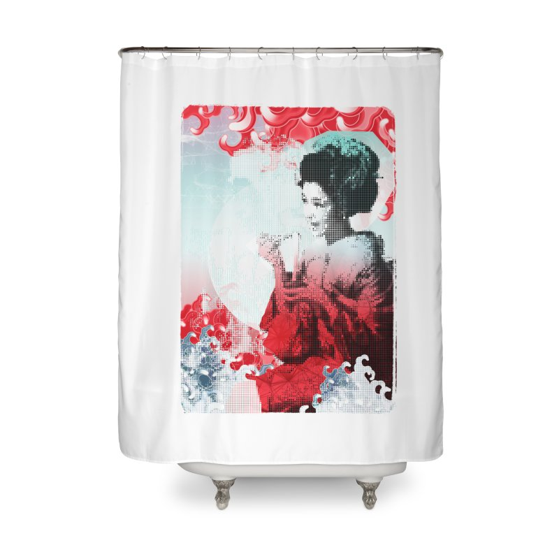 Geisha 1 Home Shower Curtain by dgeph's artist shop