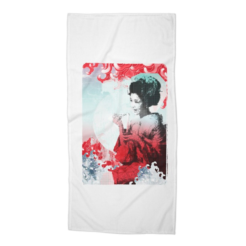 Geisha 1 Accessories Beach Towel by dgeph's artist shop