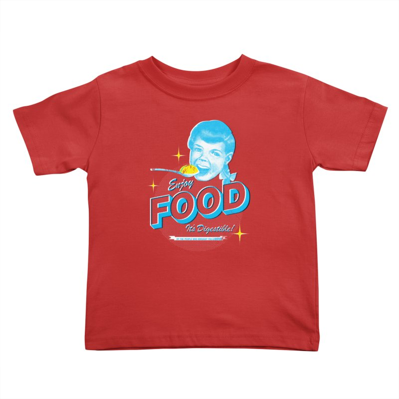 FOOD Kids Toddler T-Shirt by dgeph's artist shop