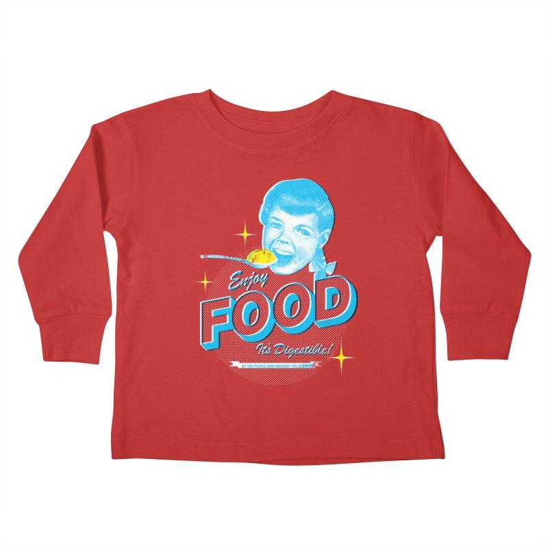 FOOD Kids Toddler Longsleeve T-Shirt by dgeph's artist shop