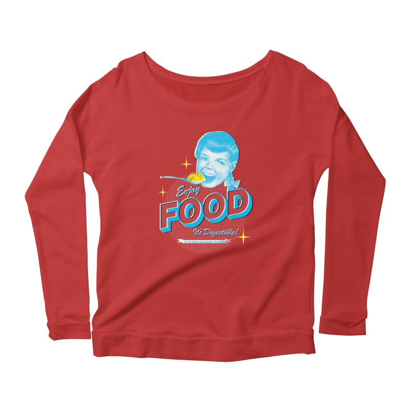 FOOD Women's Longsleeve Scoopneck  by dgeph's artist shop