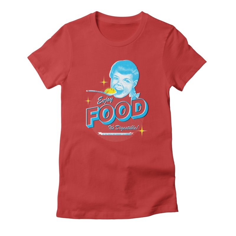 FOOD Women's Fitted T-Shirt by dgeph's artist shop