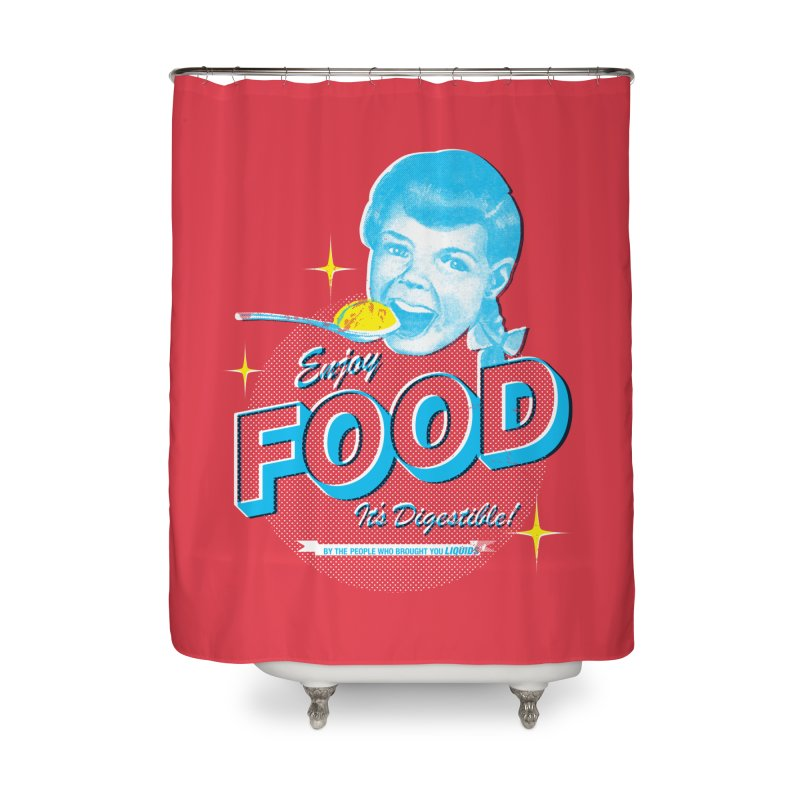 FOOD Home Shower Curtain by dgeph's artist shop