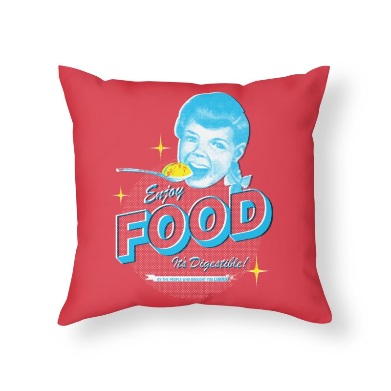 FOOD Home Throw Pillow by dgeph's artist shop