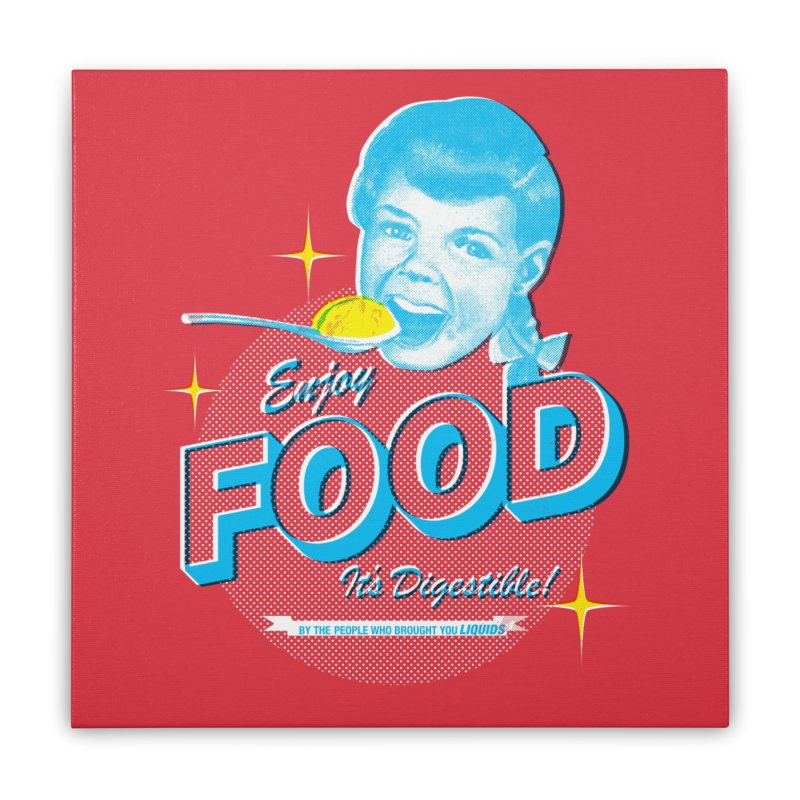 FOOD Home Stretched Canvas by dgeph's artist shop