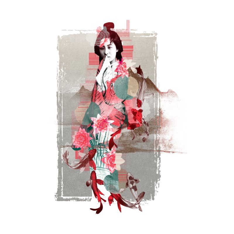 Geisha 2 Accessories Beach Towel by dgeph's artist shop