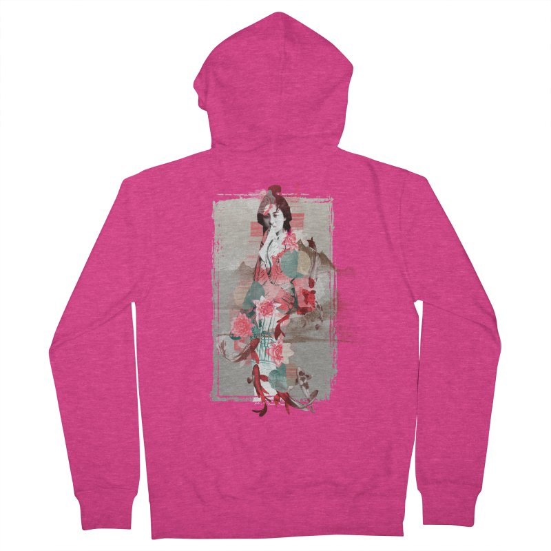 Geisha 2 Women's Zip-Up Hoody by dgeph's artist shop