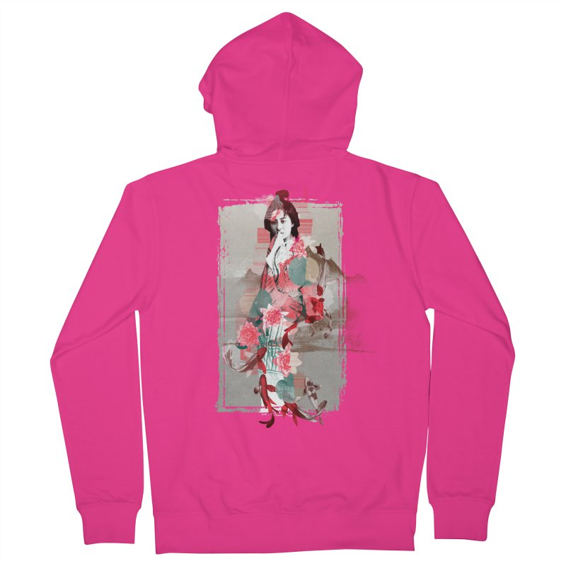 Geisha 2 Men's Zip-Up Hoody by dgeph's artist shop