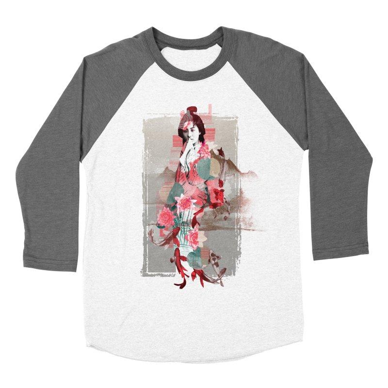 Geisha 2 Women's Baseball Triblend T-Shirt by dgeph's artist shop