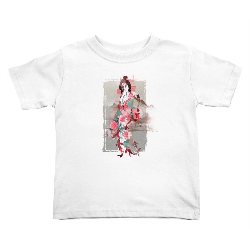 Geisha 2 Kids Toddler T-Shirt by dgeph's artist shop