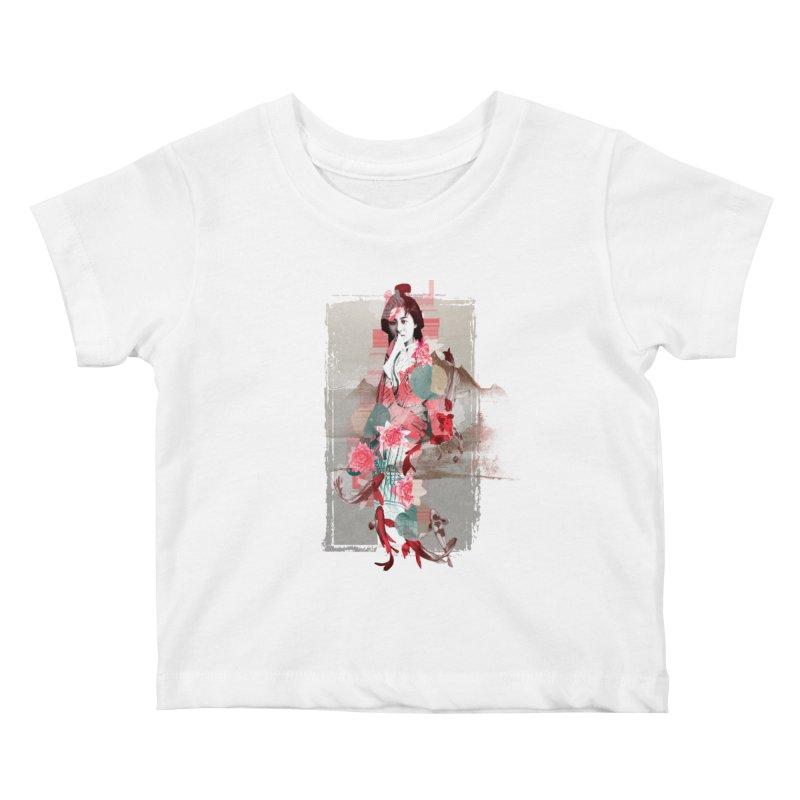 Geisha 2 Kids Baby T-Shirt by dgeph's artist shop