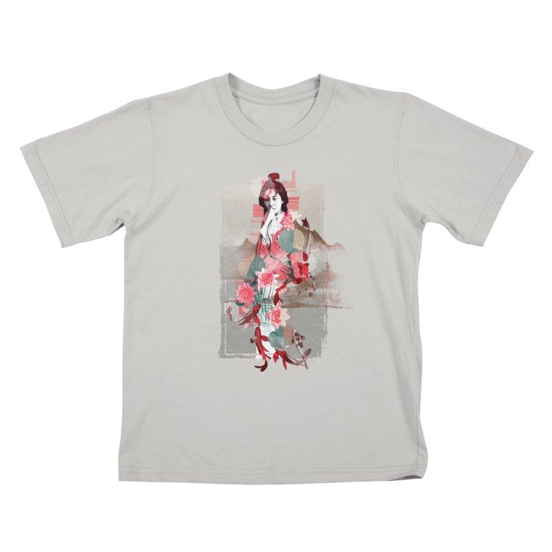 Geisha 2 Kids T-Shirt by dgeph's artist shop
