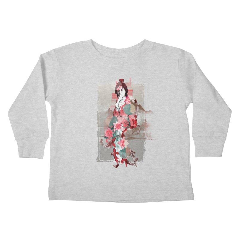 Geisha 2 Kids Toddler Longsleeve T-Shirt by dgeph's artist shop