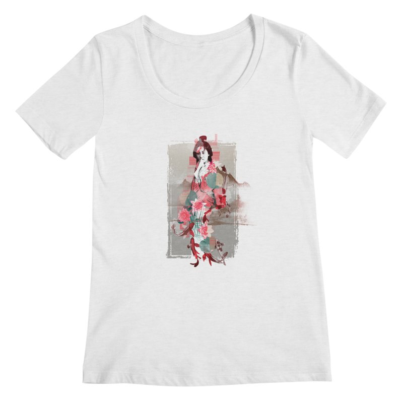 Geisha 2 Women's Scoopneck by dgeph's artist shop