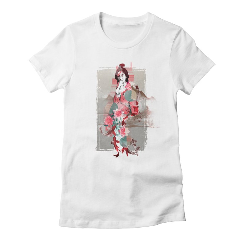 Geisha 2 Women's Fitted T-Shirt by dgeph's artist shop