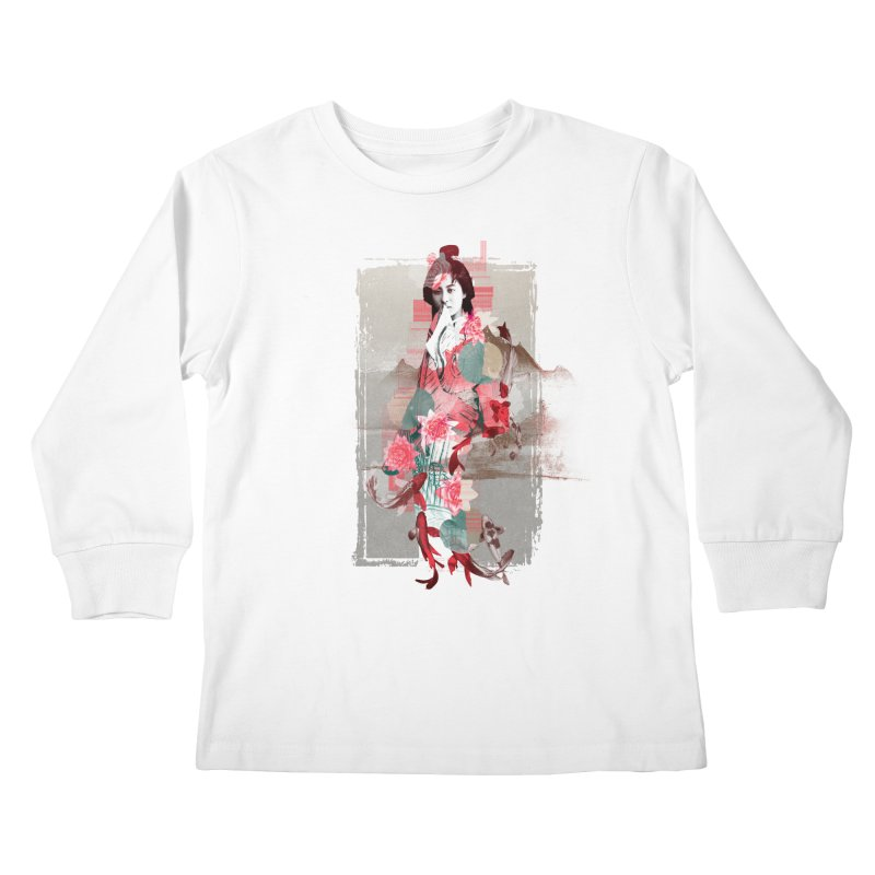 Geisha 2 Kids Longsleeve T-Shirt by dgeph's artist shop