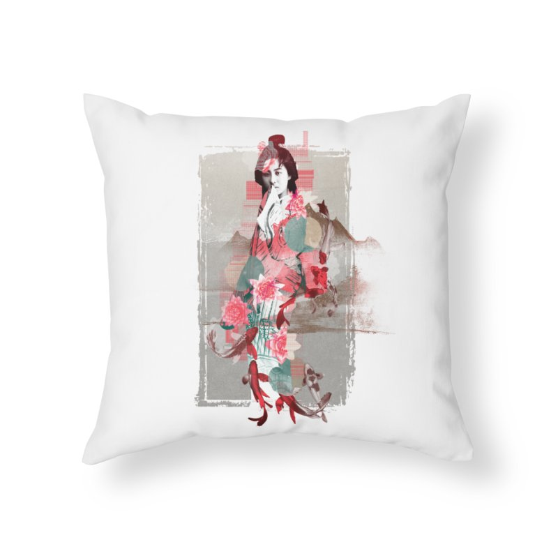 Geisha 2 Home Throw Pillow by dgeph's artist shop