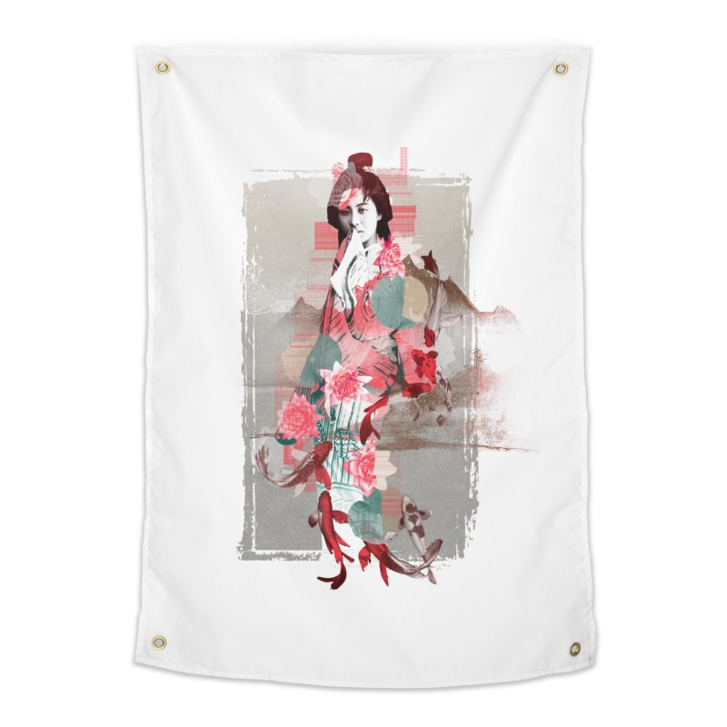 Geisha 2 Home Tapestry by dgeph's artist shop