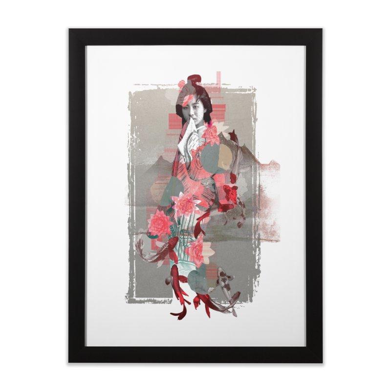 Geisha 2 Home Framed Fine Art Print by dgeph's artist shop
