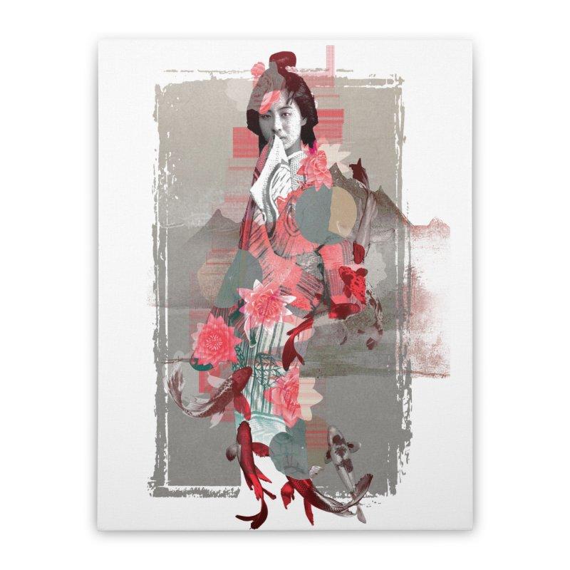 Geisha 2 Home Stretched Canvas by dgeph's artist shop