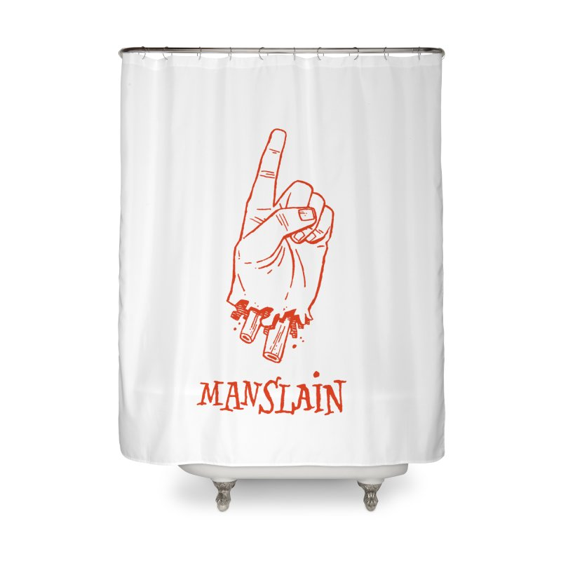 MANSLAIN Home Shower Curtain by Dustin Harbin's Sweet T's!