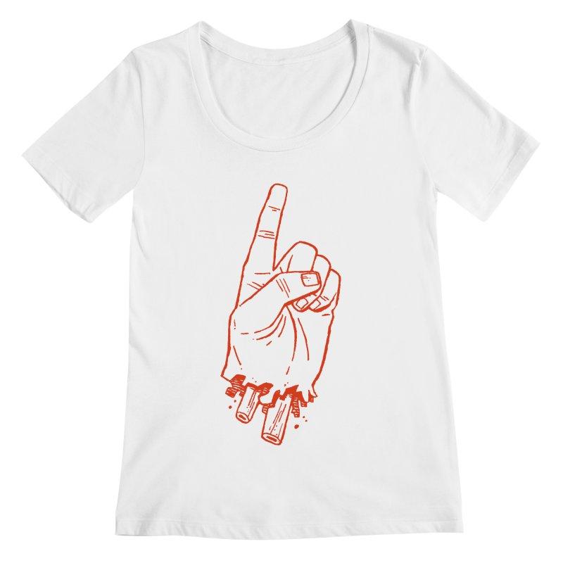 MANSLAIN Women's Regular Scoop Neck by Dustin Harbin's Sweet T's!