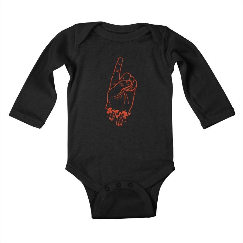 MANSLAIN Kids Baby Longsleeve Bodysuit by Dustin Harbin's Sweet T's!