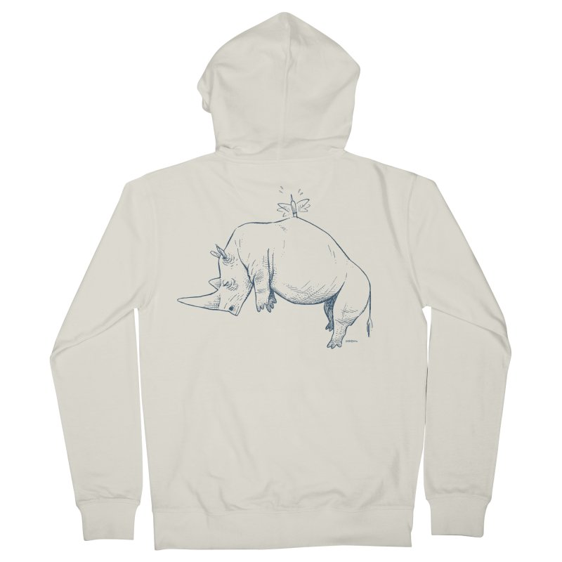 HANG IN THERE!! Men's French Terry Zip-Up Hoody by Dustin Harbin's Sweet T's!