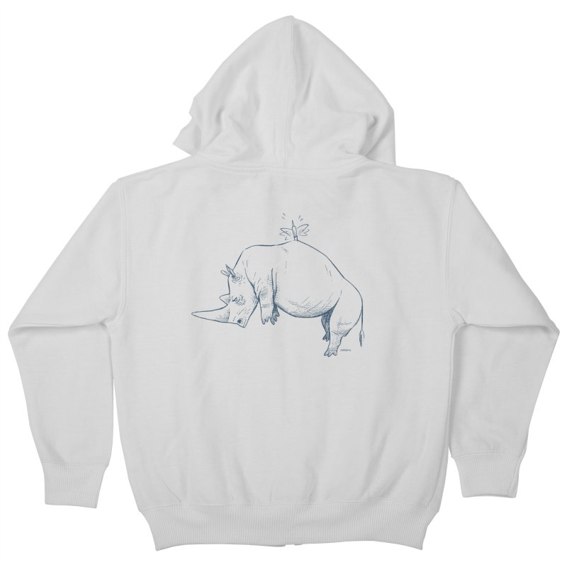 HANG IN THERE!! Kids Zip-Up Hoody by Dustin Harbin's Sweet T's!