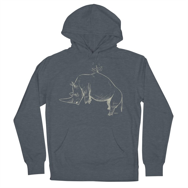 HANG IN THERE!! (light-on-dark design) Men's French Terry Pullover Hoody by Dustin Harbin's Sweet T's!