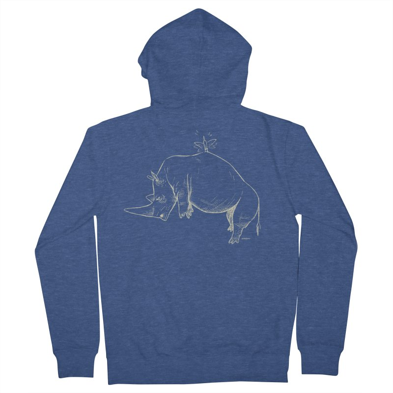 HANG IN THERE!! (light-on-dark design) Women's Zip-Up Hoody by Dustin Harbin's Sweet T's!