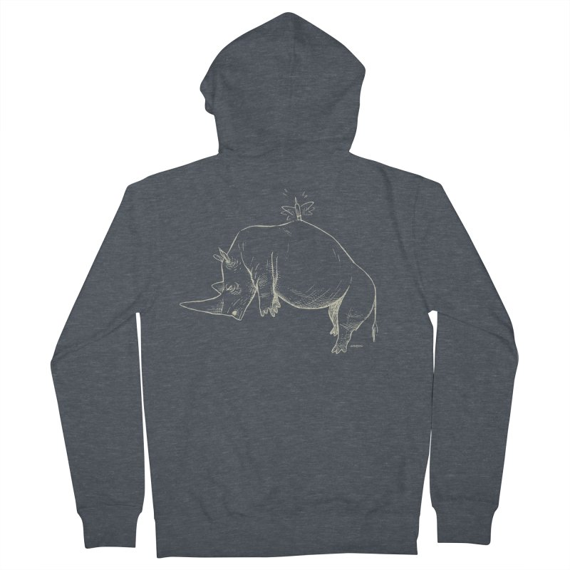 HANG IN THERE!! (light-on-dark design) Women's French Terry Zip-Up Hoody by Dustin Harbin's Sweet T's!