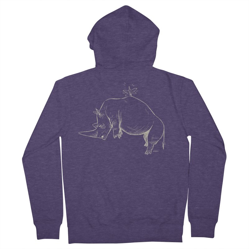 HANG IN THERE!! (light-on-dark design) Men's Zip-Up Hoody by Dustin Harbin's Sweet T's!