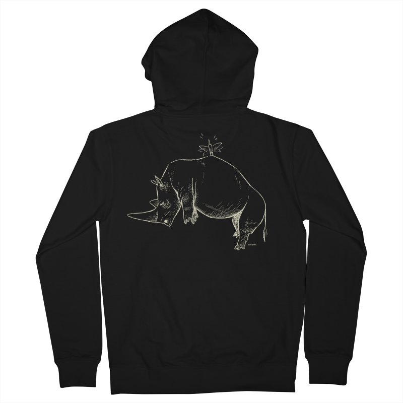 HANG IN THERE!! (light-on-dark design) Men's French Terry Zip-Up Hoody by Dustin Harbin's Sweet T's!